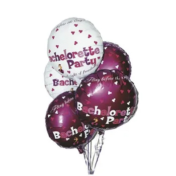 Houston BACHELORETTE MYLAR BALLOONS 9 PIECE SET
