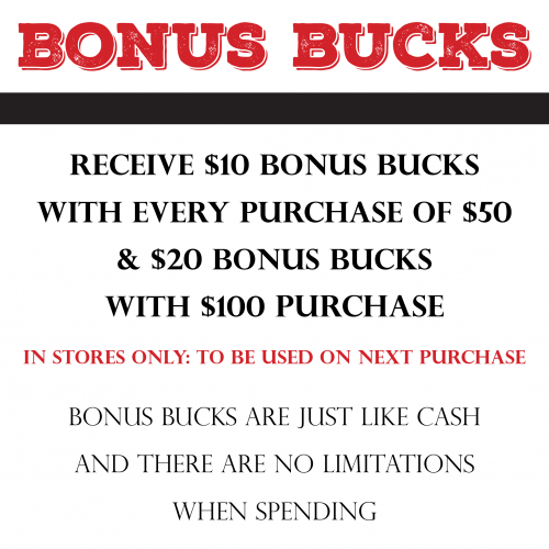 Earn Bonus Bucks: Get $10 Bonus Bucks for Every $50 Spent!